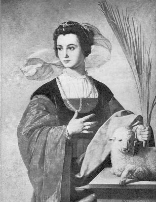 Painting of St. Agnes of Rome by Alonso Cano Maler