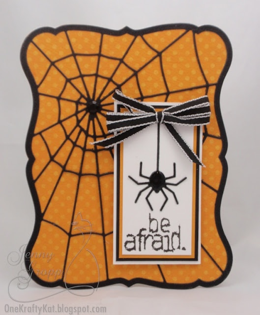 Halloween Card Making Ideas Part - 43: Memory Box Die Spiderweb On An Orange Polka Dot Base...shaped Card. Halloween  CardsFall HalloweenHalloween IdeasHalloween ...