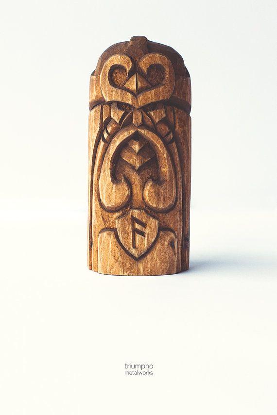 Wooden figurine Loki. Handcarved wooden statue. Great