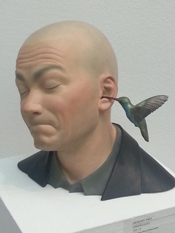 """El """"Ornitólogo"""" de Gerard Mas en Art Madrid Feria 2014. 3 Punts Galería."""