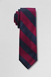 Navy and maroon striped tie
