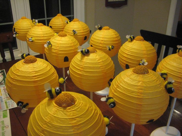 relief society table decorations | Beehive Centerpieces just after completion