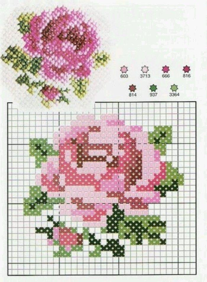 十字绣 花朵