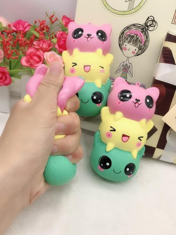 Jumbo 14 cm Kawaii Gesicht Squishy Kitty/Panda/Bär String Weiche Langsam Steigenden Phone Strap Squeeze Duftenden Creme brot Kuchen Kind Spielzeug