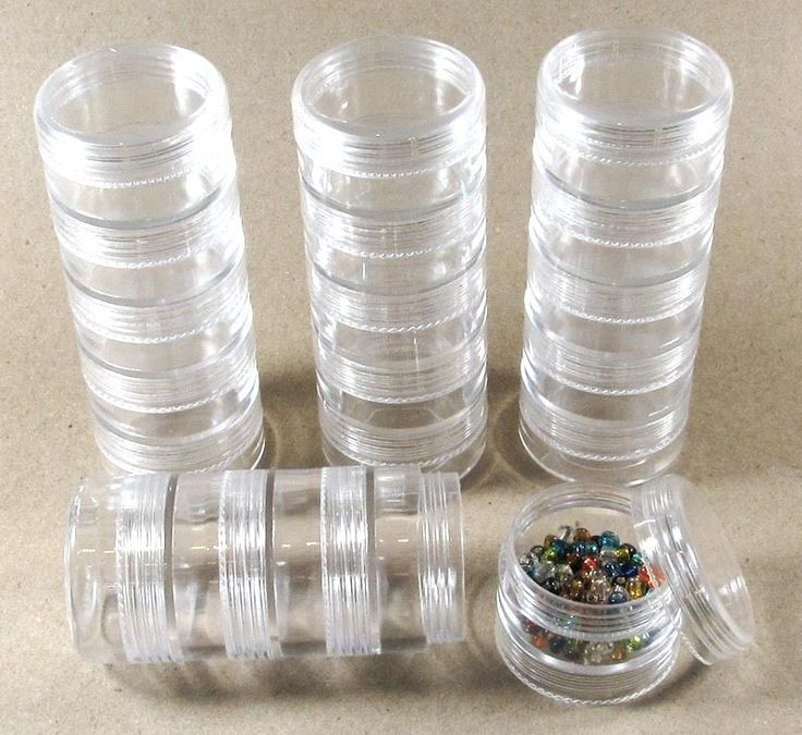 Stacked Plastic Bead Round Storage Bead Containers-Set of 20 (4 Stacks) #Unbranded