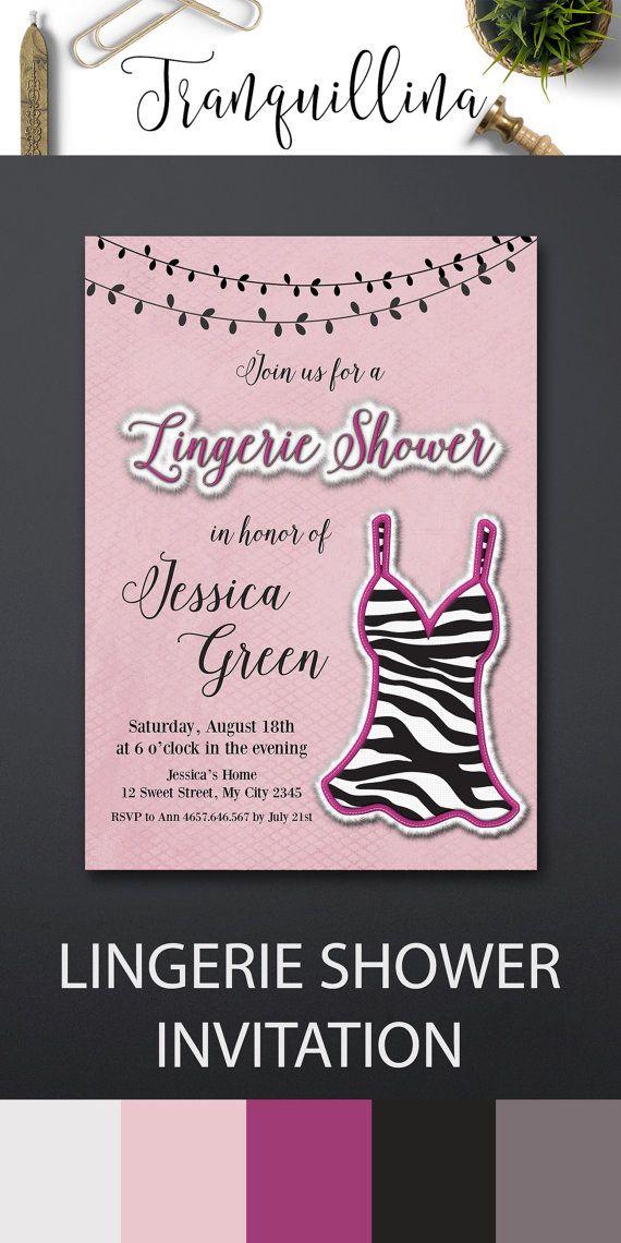 blank beach bridal shower invitations%0A Lingerie Bridal Shower Invitation  Lingerie Invitation Printable  DIY bridal  shower Ideas  Pink Bachelorette