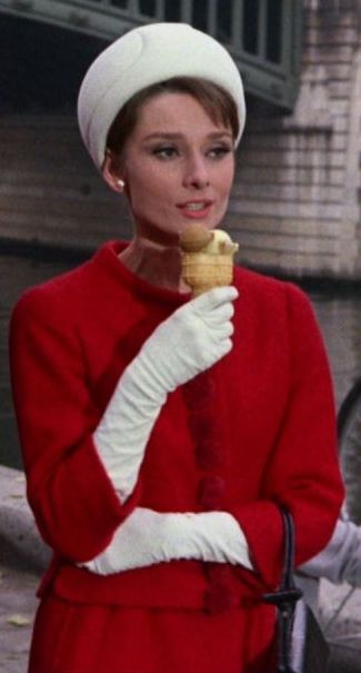 Audrey Hepburn wearing Givenchy in 'Charade', 1963.