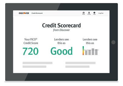 Discover Credit Score Card. Free - even if you're not a Discover customer. Free FICO Score.