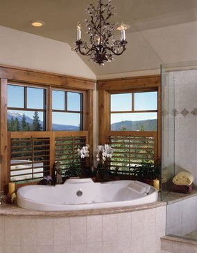 Moder Log Home Bathrooms Design Ideas Pictures Remodel