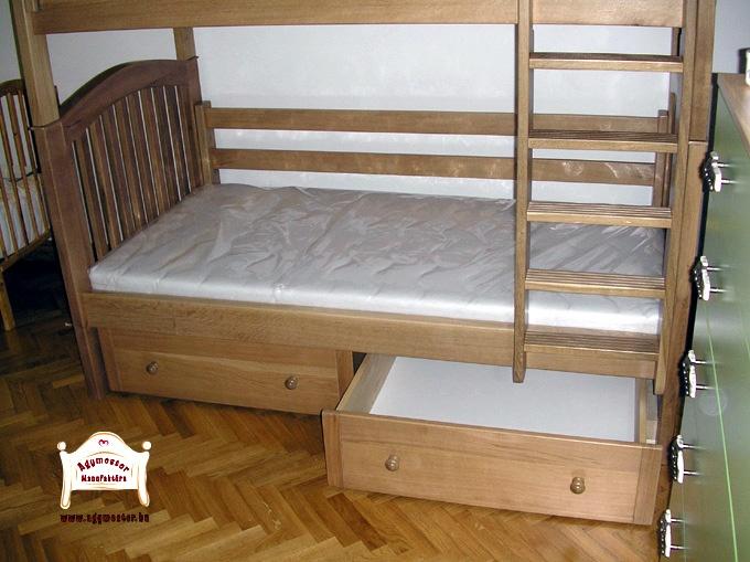Ágymester emeletes ágy két fiókos ágyneműtartóval