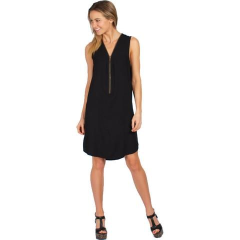 Zipped up Dress Black $49    These functional zips are great for breastfeeding mothers.     #womensfashion #breastfeeding #mumfashion #mothers #womenswear