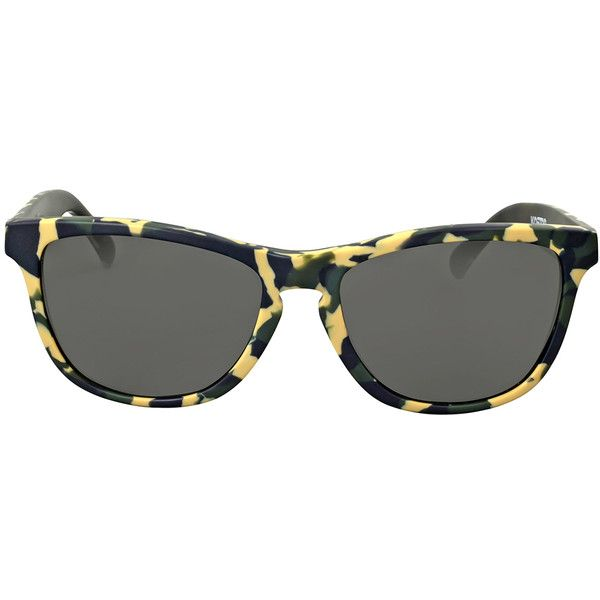 Oakley Frogskins LX Eric Koston Signature Green Camo Sunglasses ($75) ❤ liked on Polyvore featuring jewelry, green jewellery, green jewelry, camo jewelry, oakley and plastic jewelry