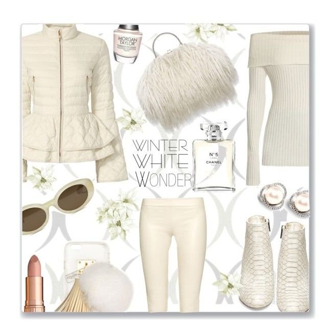 """Winter Wonder"" by jckallan ❤ liked on Polyvore featuring Brewster Home Fashions, Elizabeth Roberts, The Row, Steve Madden, Elizabeth and James, Ashlyn'd, Charlotte Tilbury, Morgan Taylor, Chanel and contestentry"