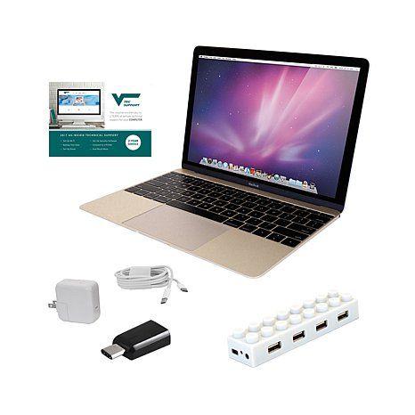 "Apple MacBook® 12"" Retina HD IPS Intel Core M, 8GB RAM, 256GB SSD Laptop wi | HSN"