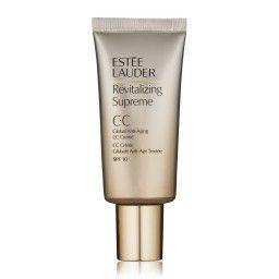 Estée Lauder Revitalizing Supreme CC Crème SPF10 30ml   Revitalizing Supreme CC Cream SPF10 is een kleur-corrigerende anti-verouderende dagcrème die de huid hydrateert, diep voedt en ervoor zorgt dat uw huid zacht en comfortabel aanvoelt. Revitalizing Supreme CC Cream SPF10 geeft het gezicht een gezonde gloed vanwege de kleur-corrigerende pigmenten. Deze innovatieve CC-crème stimuleert en revitaliseert tevens de natuurlijke weerstand van de huid.