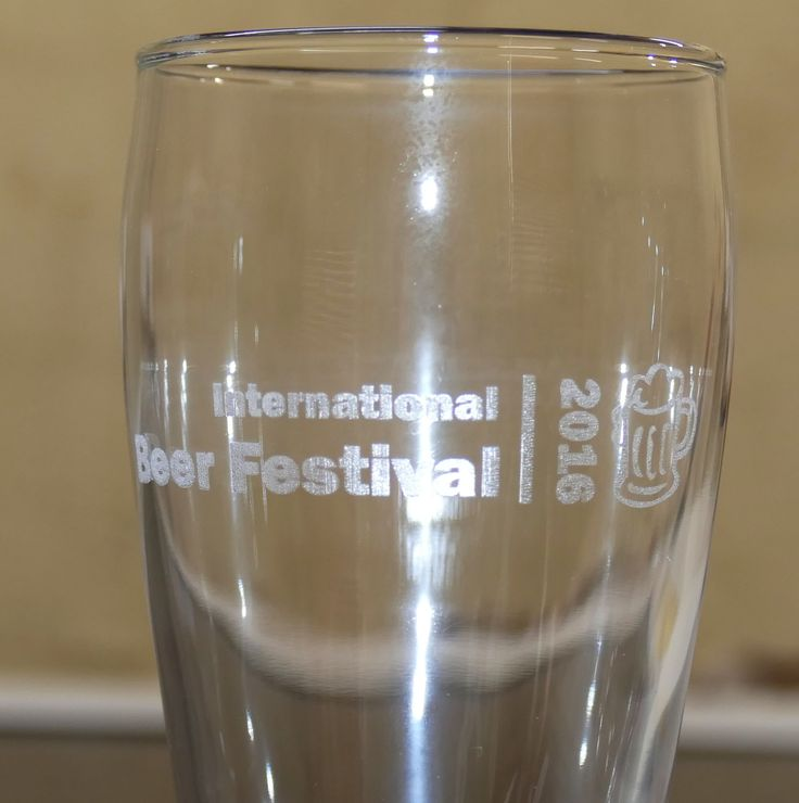 Beer glass custom engraved with your text and design instuctions