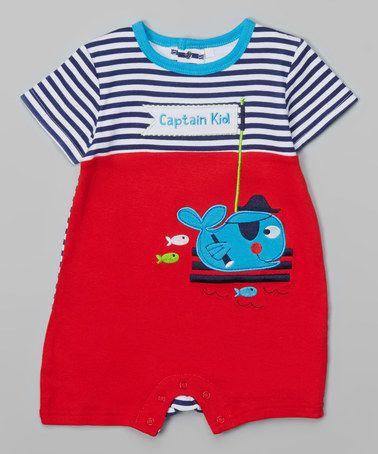 Love this Red 'Captain Kid' Whale Romper - Infant by Buster Brown on #zulily! #zulilyfinds