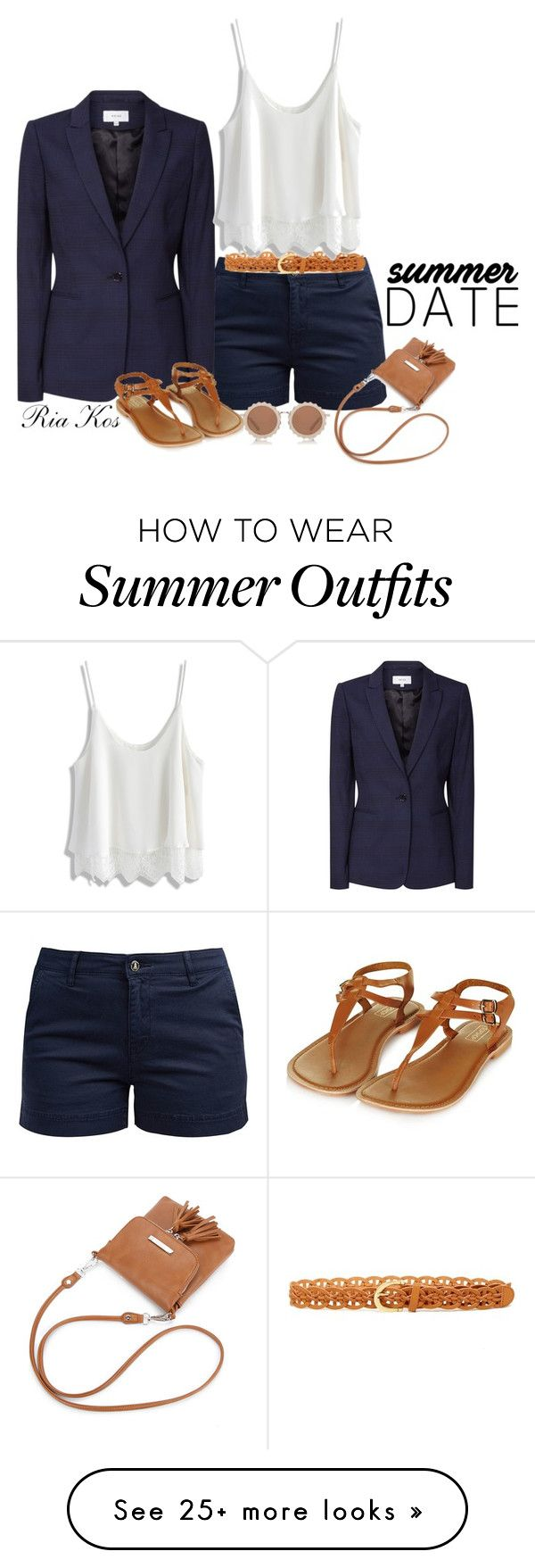 """""""summer outfit"""" by ria-kos on Polyvore featuring Barbour, Reiss, Steve Madden, Chicwish, House of Holland and Topshop"""