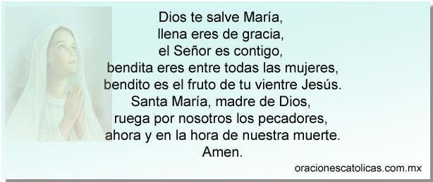 Oraciones Catolicas Basicas - Ave María
