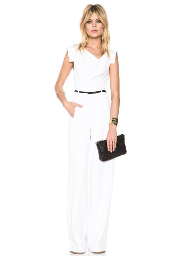 Black Halo Jackie Jumpsuit In White Looks We Love Pinterest