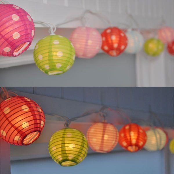 Guirnalda de luces 'Candy spots' en www.mylittleplace.es. Dale luz a un ricón de tu casa con estas guirnaldas de colores.
