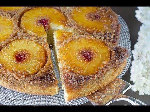 Pineapple Upside-Down Cake (Doolsho Cananaas) Tarte tatin à l'ananas كيك...
