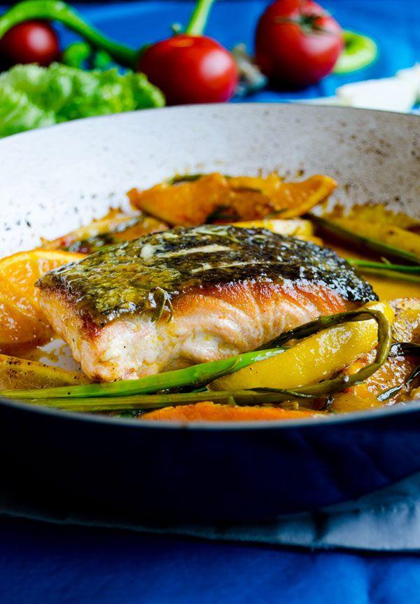 Stir Fry Salmon with Orange | giverecipe.com | #salmon #fish #seafood