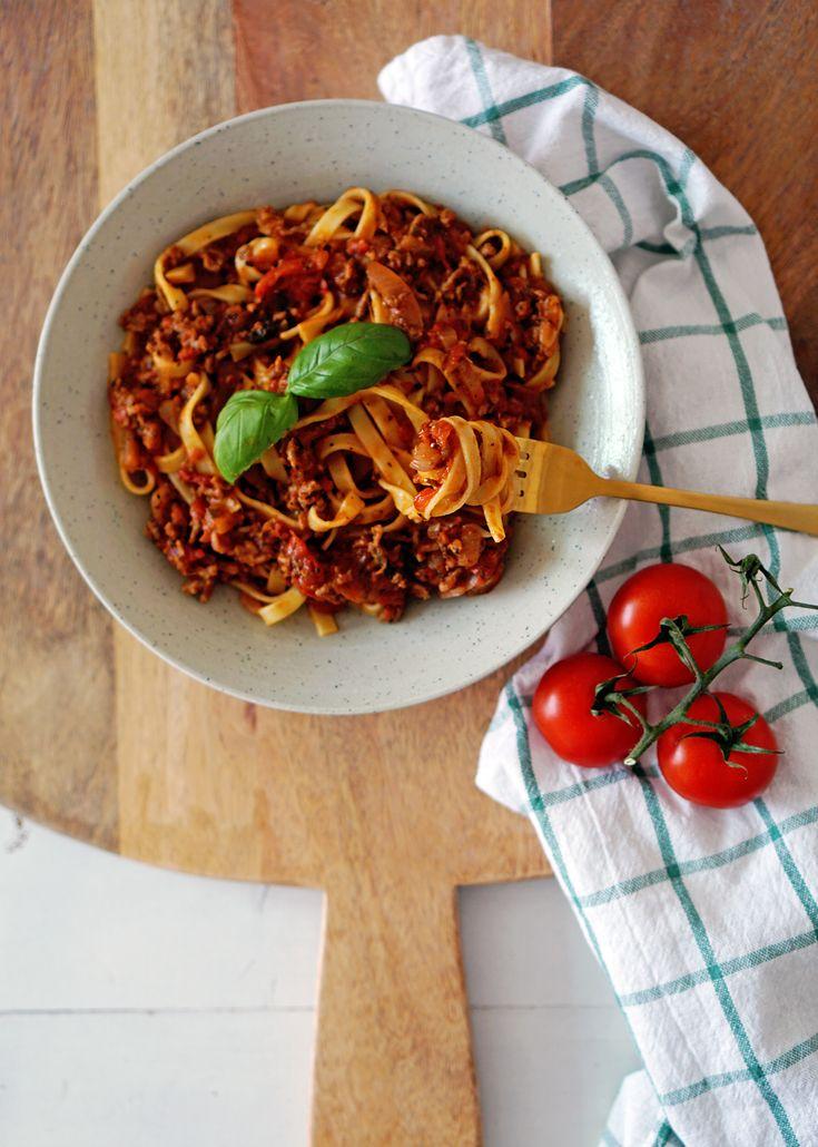 Recept: pasta bolognese met witte wijn