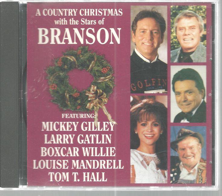 Country Christmas Branson Stars CD 1993 Mickey Gilley Boxcar Wilie Tom T Hall  #ChristmasBranson