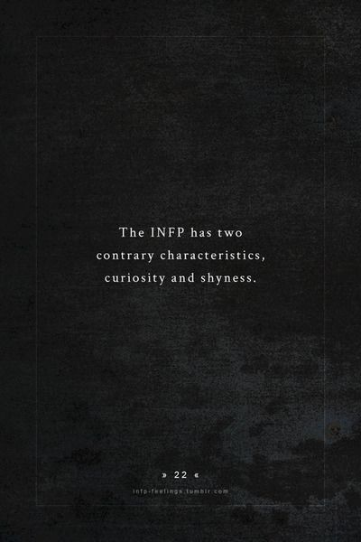 INFP.  Rather than 'shyness' I would call it the tendency to look within, contemplate and not necessarily express thoughts at a particular time or in particular setting.