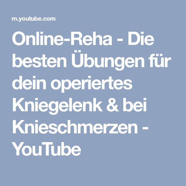 Online-Reha - Die besten Übungen für dein operiertes Kniegelenk & bei Knieschmerzen - YouTube