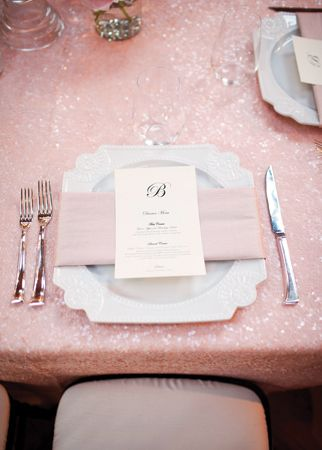 pink sequin table clothe <3