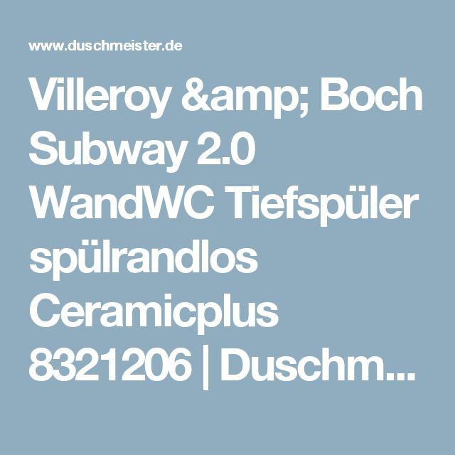 Villeroy & Boch Subway 2.0 WandWC Tiefspüler spülrandlos Ceramicplus 8321206 | Duschmeister.de