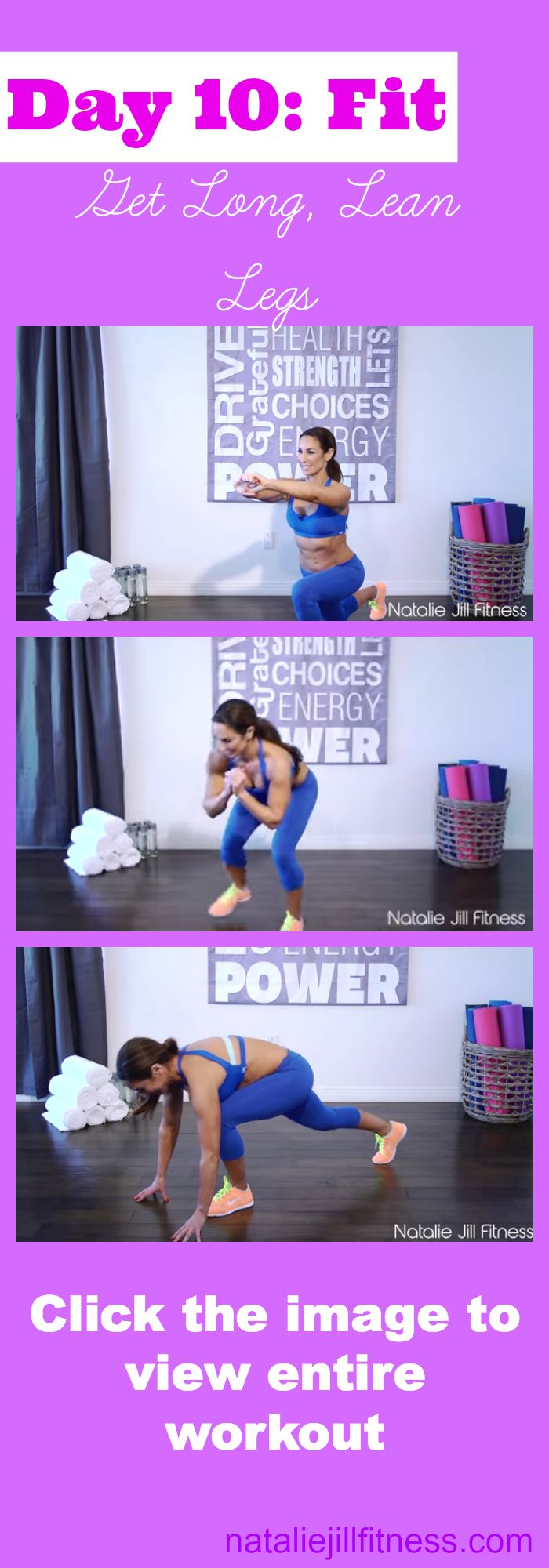 Here you go! WHO is still in? Today's workout: How to tone and lean out your legs! Click the image to view the ENTIRE workout.
