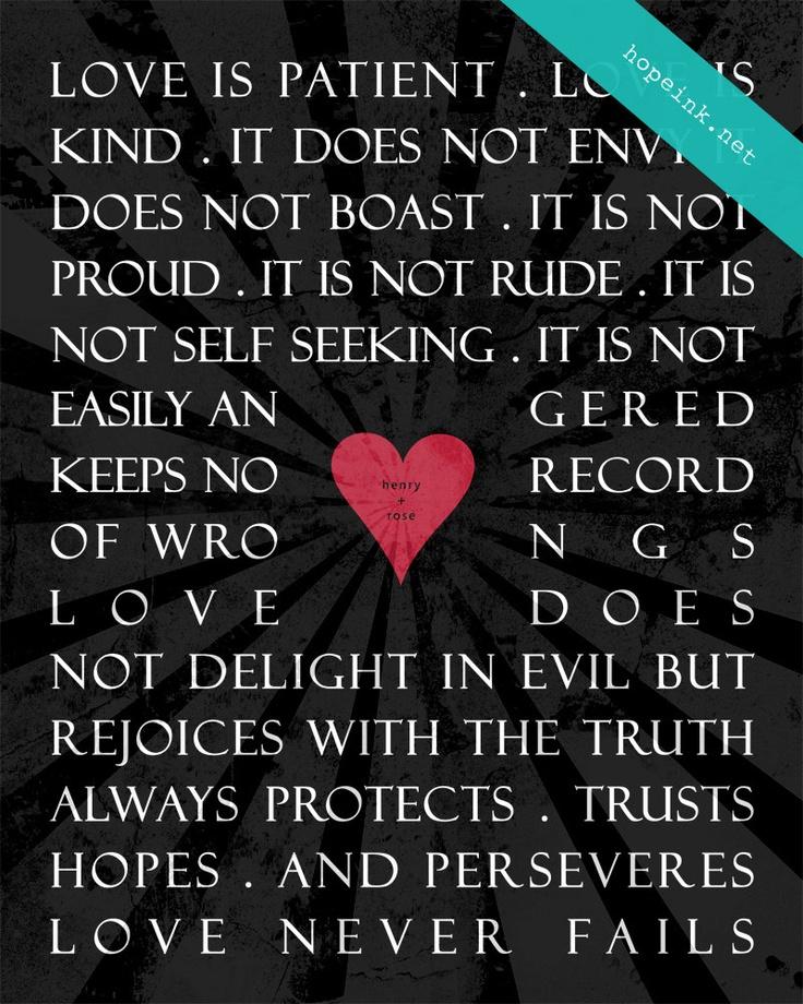 Quotes About Love 1 Corinthians : Corinthians 13 Love Bible Verses