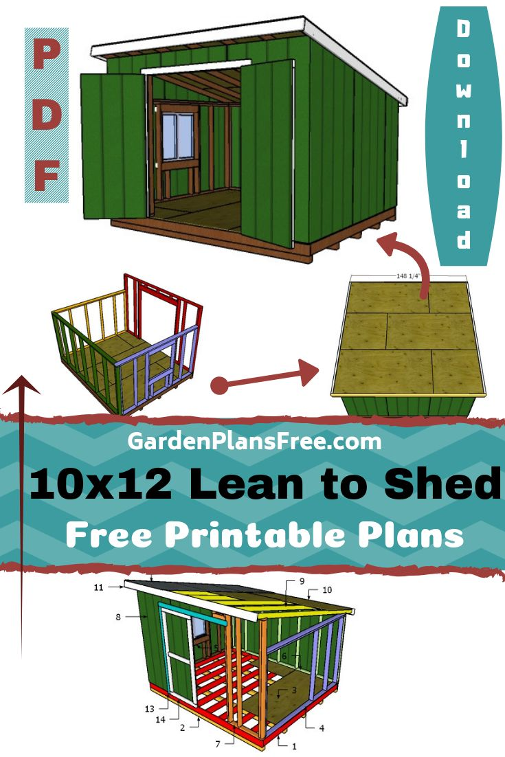 10x12 Lean To Shed Plans Lean To Shed Shed Plans Build Your Own Shed