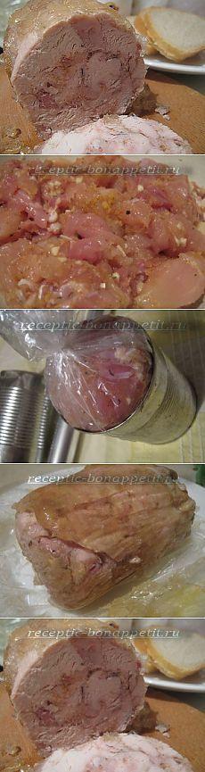 Куриная ветчина в банке - вкус настоящего домашнего деликатеса! | Четыре вкуса