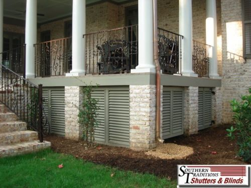 True Louvers, The Way All Raised Homes Should Be Protected. Safer, Cleaner & Gorgeous, Much Better Than Lattice...