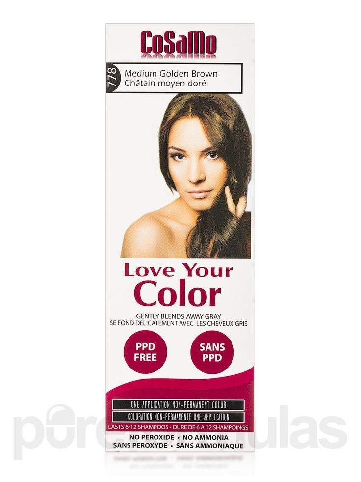CoSaMo - Love Your Color Non Permanent Hair Color 778 Medium Golden Brown - 3 oz NEW PACKAGING Like Clairol , L'Oreal , Garnier , John Frieda , Nice n Easy , Revlon haircolor ... No PPD or No Ammonia ! Paraben FREE ! PPD FREE ! No Peroxide ! Peroxide Free ! -1 RATED BEST HAIR COLOR ! Most Popular Haircolor ! MADE IN USA -- More info could be found at the image url.