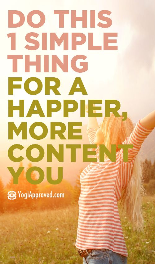 One simple thing for happier you and a happier life - YogiApproved.com