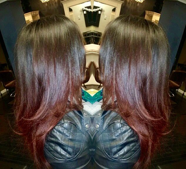 Ravishing Reds Check In This Soft Ombr 233 Davines Hair