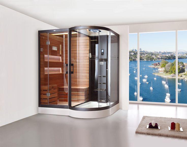 10 best sauna and steam images on Pinterest Saunas, Steam room - sauna designs zu hause