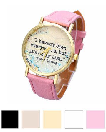 quotes-watch-white-black-pink-map-cheap-φθηνό-ρολόι-fashion-travel