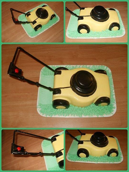 Lawn mower cake - Fűnyíró torta