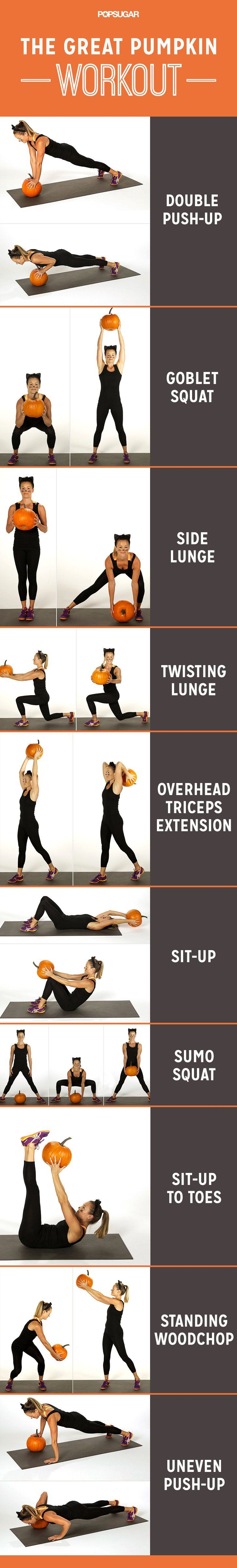 Pin for Later: Burn Off Those Halloween Candy Calories With This Pumpkin Workout