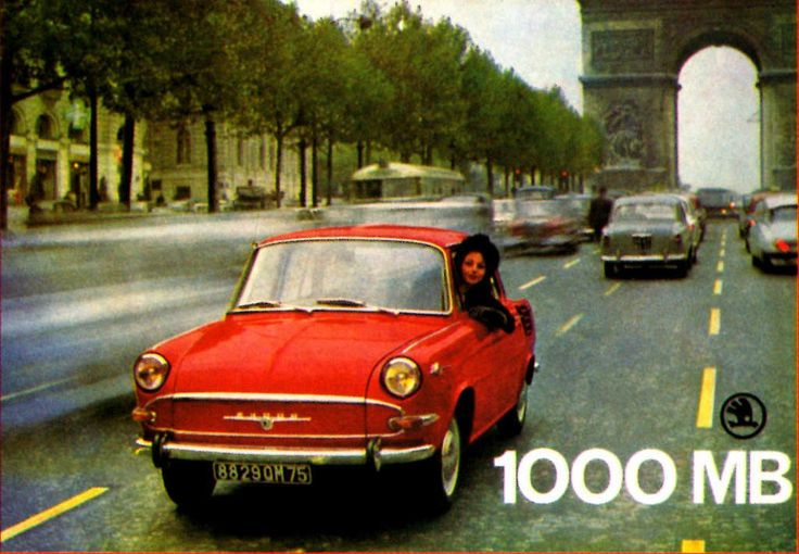 Škoda 1000MB (c.1964) | French Period Publicity