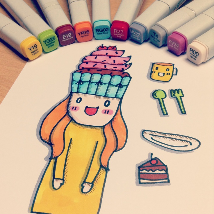 25 best cute images on pinterest doodles crayon art and for Doodle characters