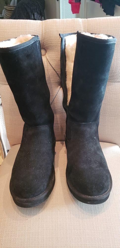 ea0318c59934 Ugg Australia Sumner Tall Black Boots Suede Zipper