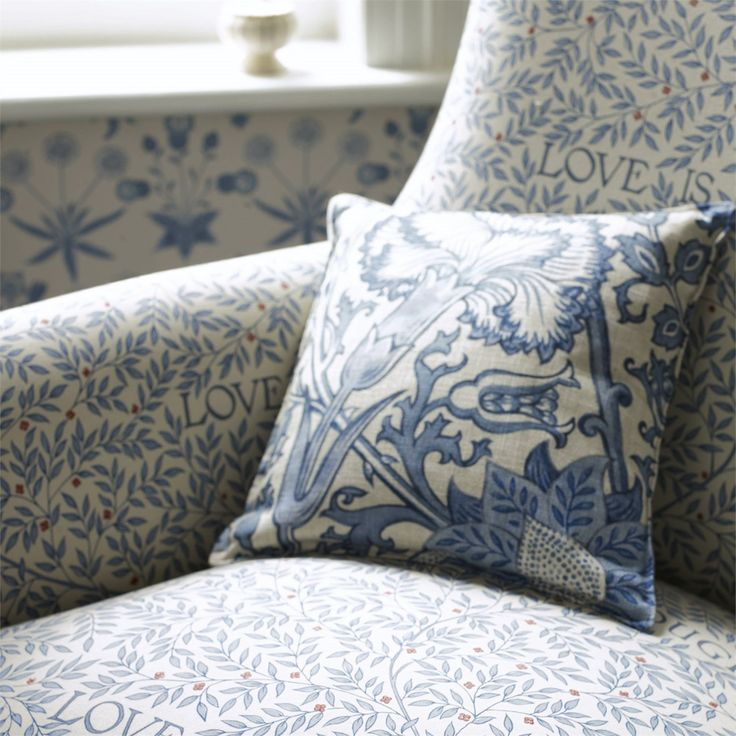 The 'Love Is Enough' Fabric from the William Morris collection