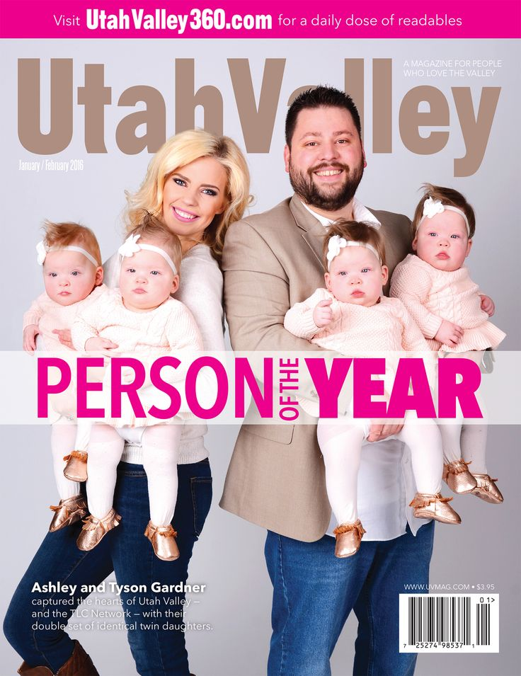 """Utah County fell in love with the Gardner Quad Squad immediately when they were born in Dec. 2015. Now the nation will fall in love with them on the new TLC series """"Rattled."""" #GardnerQuadSquad #PersonOfTheYear #UtahValley"""